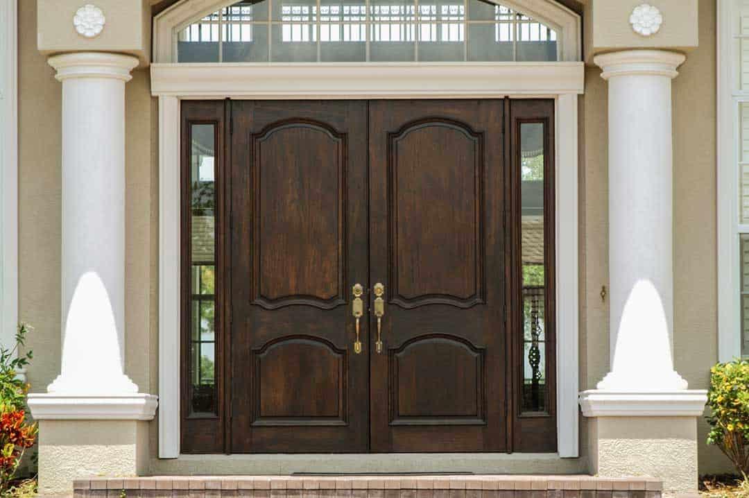 Holztür Lasur –lasierend gestrichene Tür